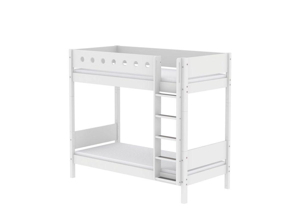 Etagenbett Flexa Absturzsicherung : Etagenbett maxi weiß 90x200cm mit senkrechter leiter von flexa